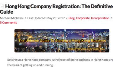 Incorporating In Hong Kong