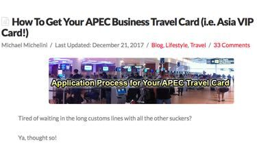How To Get APEC Card