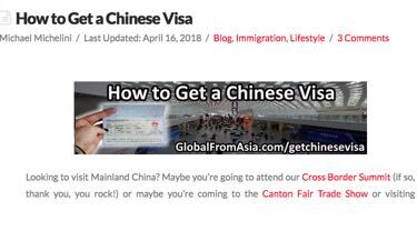 How To Get Chinese Visa