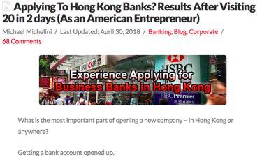 Hong Kong Bank Applications