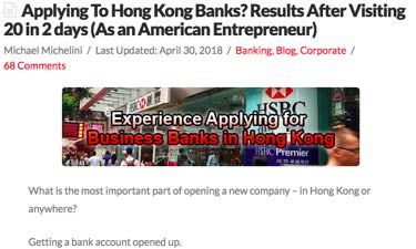 Hong Kong Bank Applications